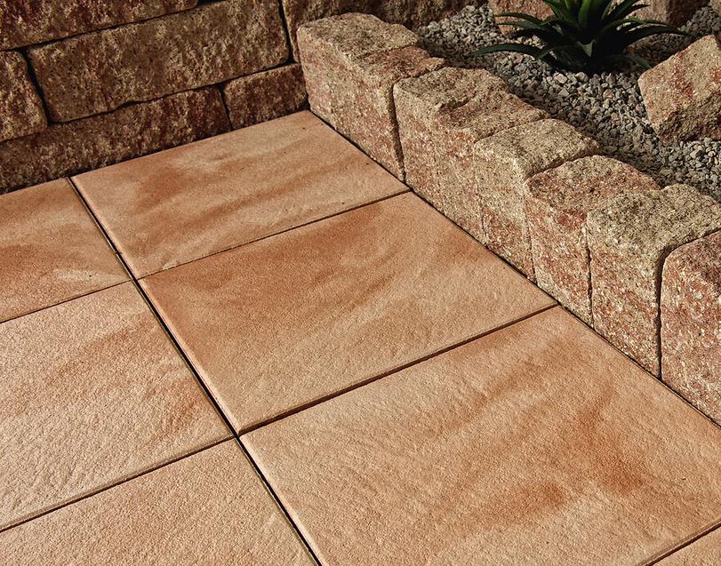 Terrassenplatten X Quadratischen Keramischen Platten Also - Terrassenplatten beton 50x50 rot