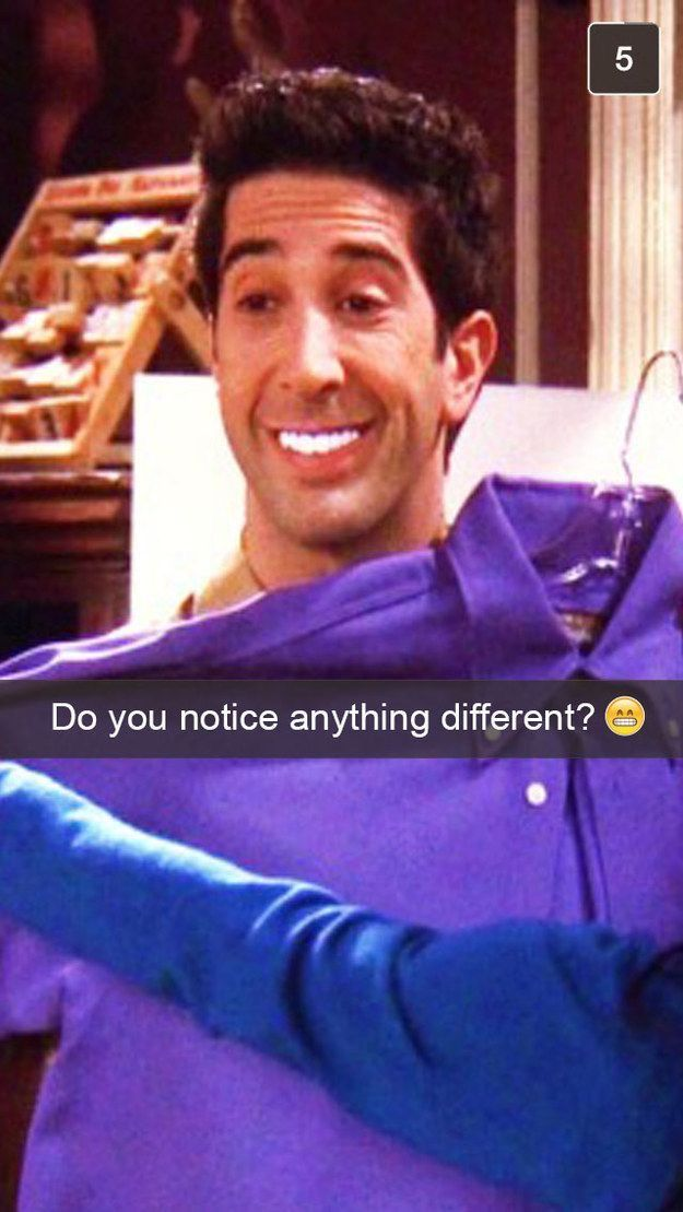 If Ross Geller had snapchat   Friends moments, Friends in ...