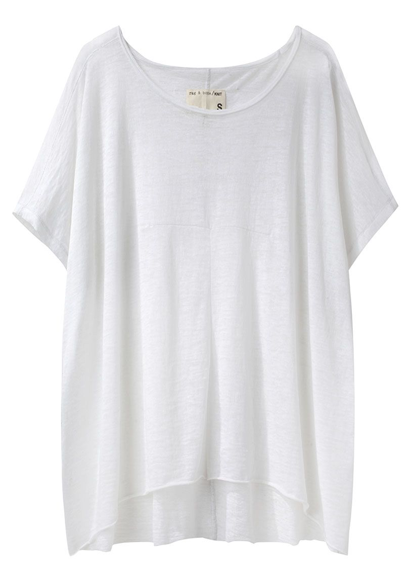 Another white tee. From Rag & Bone - by http://www.lagarconne.com