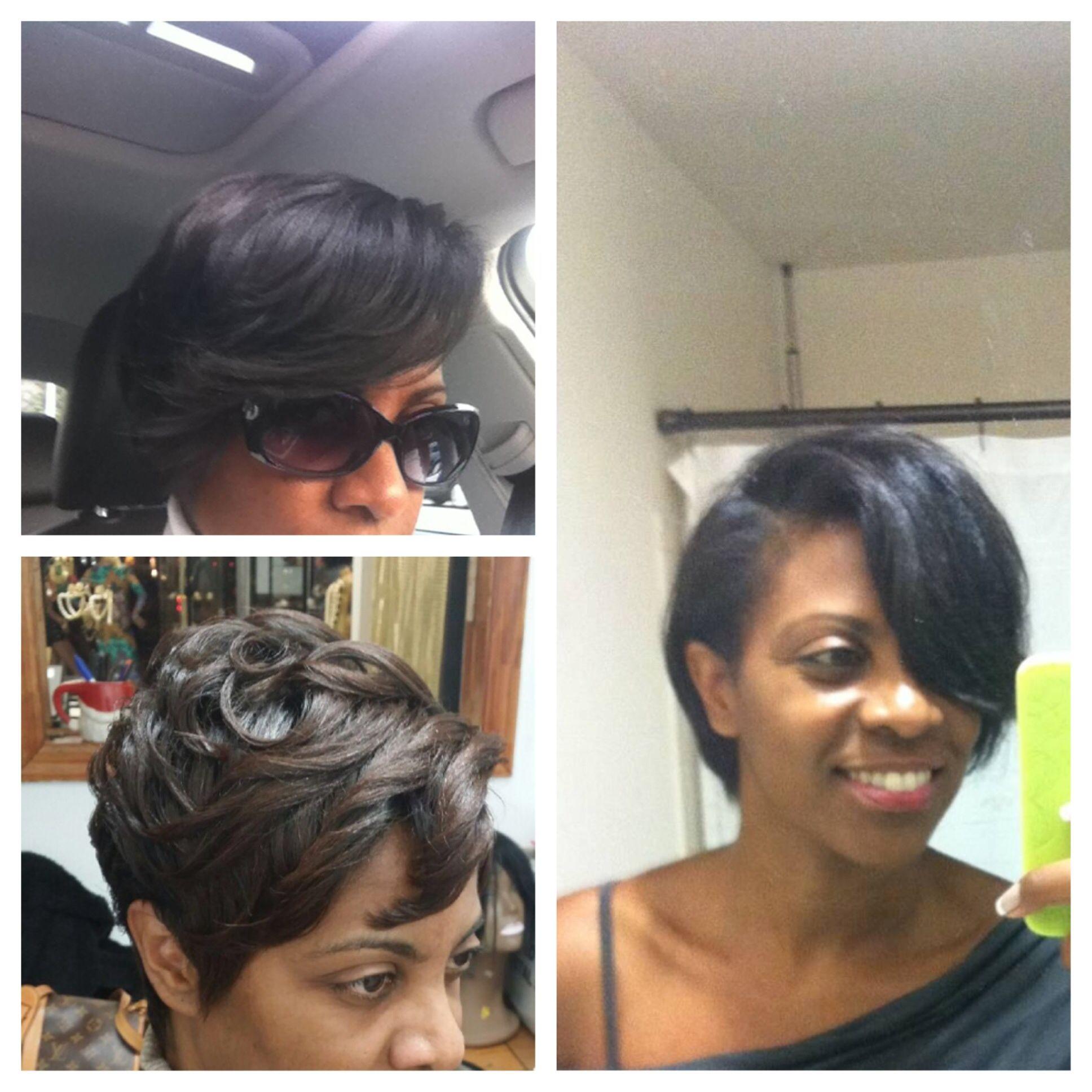 Earlier short cuts by my stylist rhonda from hair on earth salon in