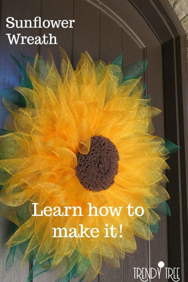 Photo of Inspiratoin sunflower wreath