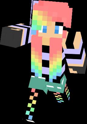Pics For > Minecraft Rainbow Girl Skins
