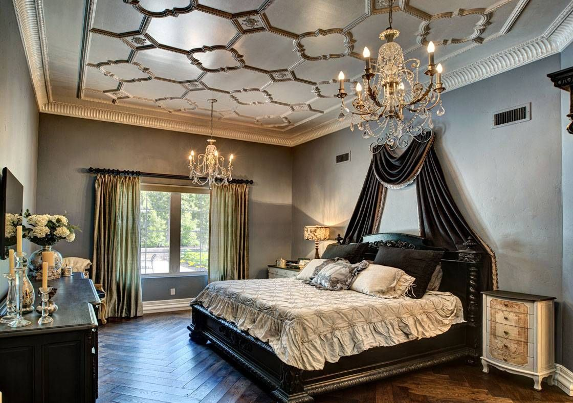 Black french bedroom decor - Bedroom Chic Master Bedroom French Style Master Bedroom French Style With Black Bed With