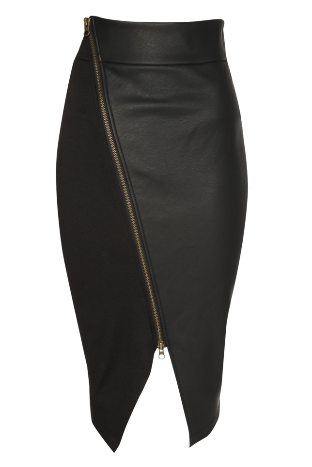 37c0ae7ba falda con corte asimetrico a un costado - Buscar con Google | Faldas ...
