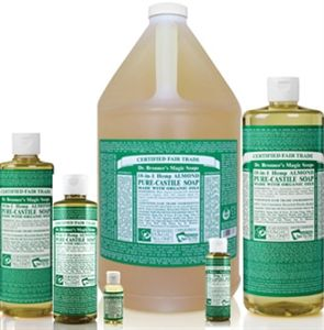 Dr Bronner S Almond Organic Liquid Soap Various Sizes Shown