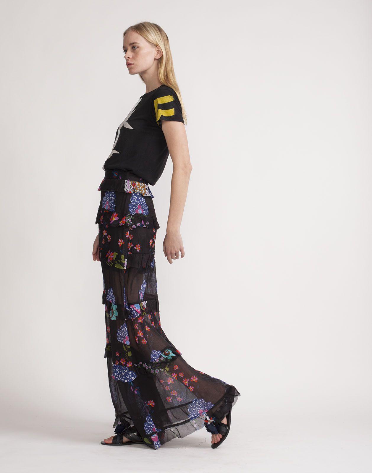 Tiered ruffle maxi skirt cynthia rowley catalogwearing