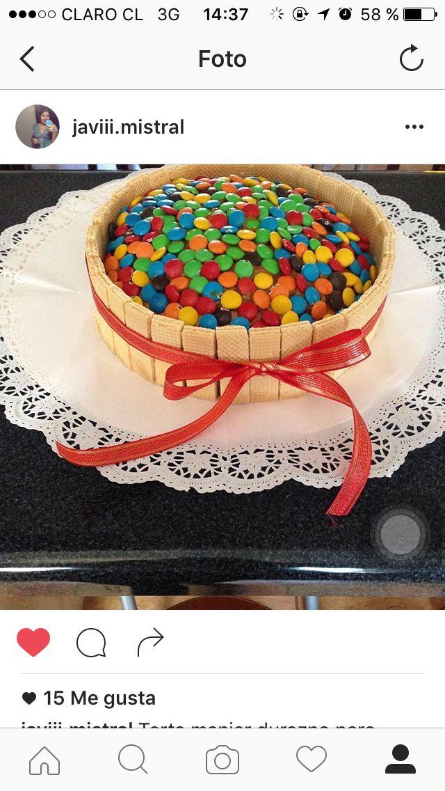 Torta bizcocho vainilla, mousse de manjar !