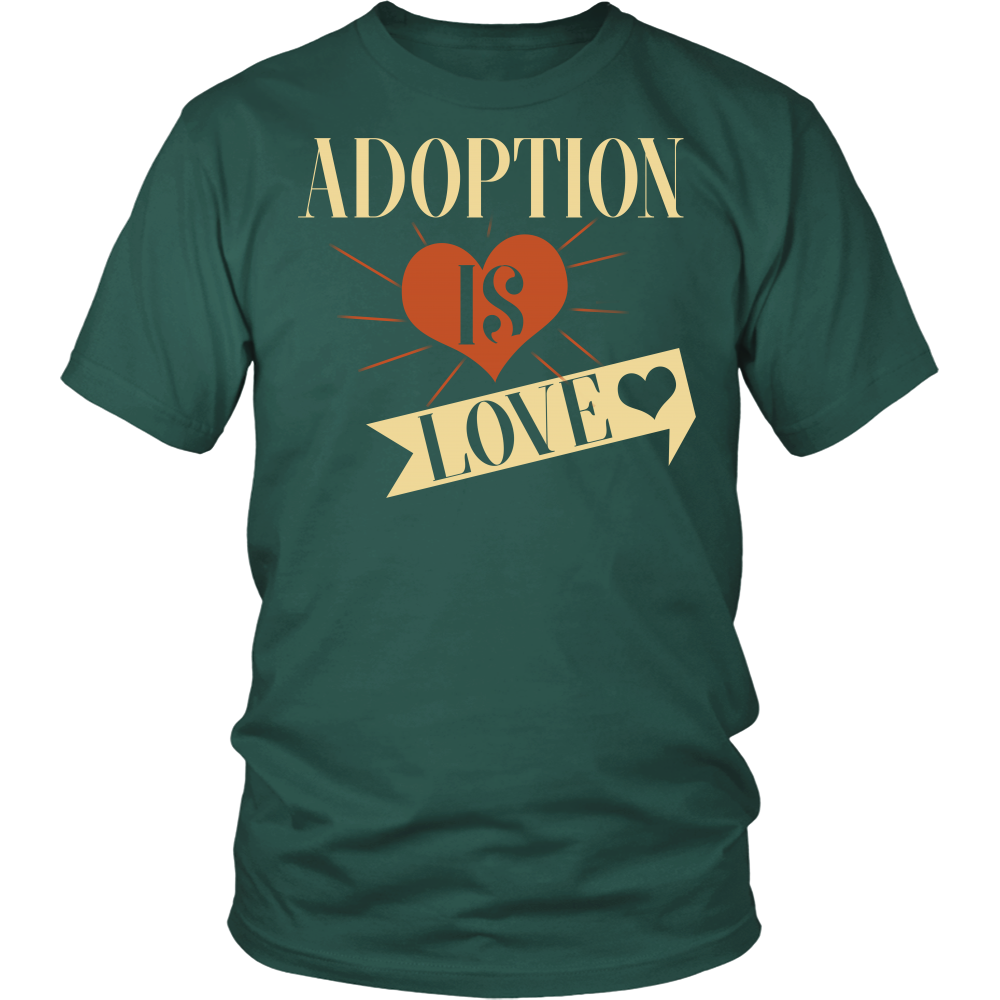 Adoption T-shirt, hoodie and tank top. Adoption funny gift idea.
