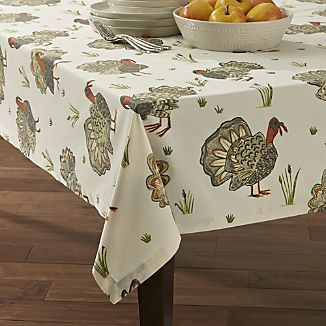Tablecloths Linen Cotton And Polyester Crate And Barrel Table