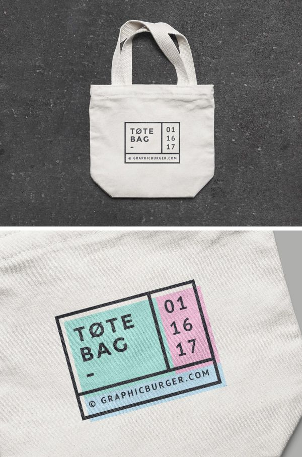 9b5bab9d4 Free Small Canvas Tote Bag MockUp | Design Tools | Bag mockup ...