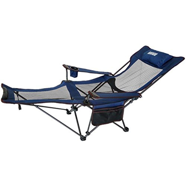Anigu Mesh Lounge Reclining Folding Camp Chair with