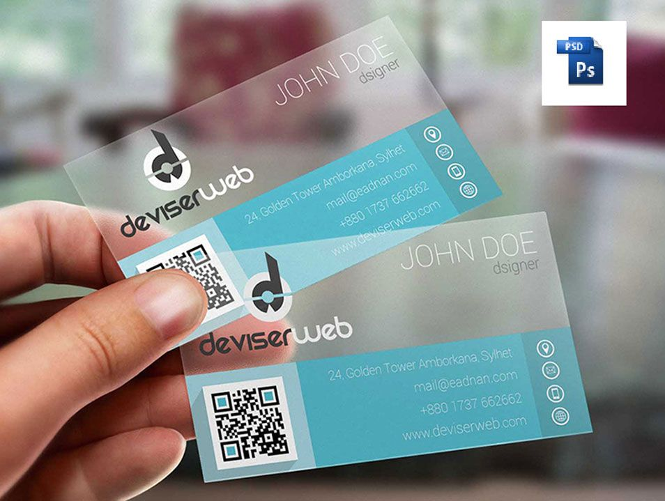 Flat Transparent Plastic Business Card | Business Cards | Pinterest ...