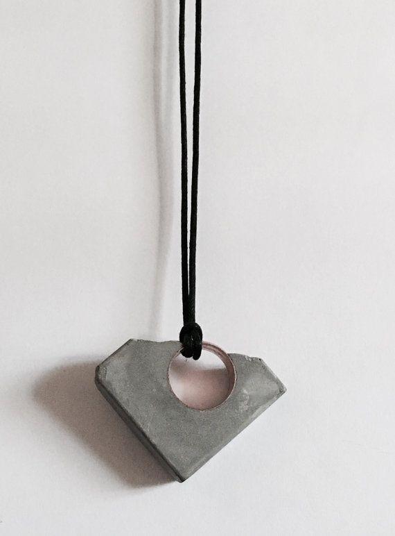 Concrete Pendant Necklace
