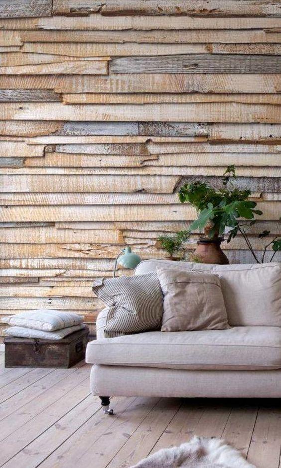 id es d co habiller ses murs de bois deco bois maison et parement mural. Black Bedroom Furniture Sets. Home Design Ideas