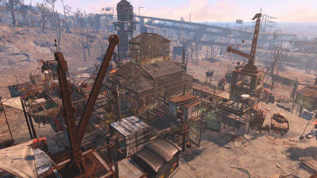 new junk town fallout 4 starlight drive in fallout 4 pinterest