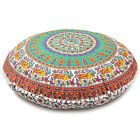Details about Indian Daybed Big Seating Mandala Floor Pillow Cover Pouf Cushion Case Bohemian