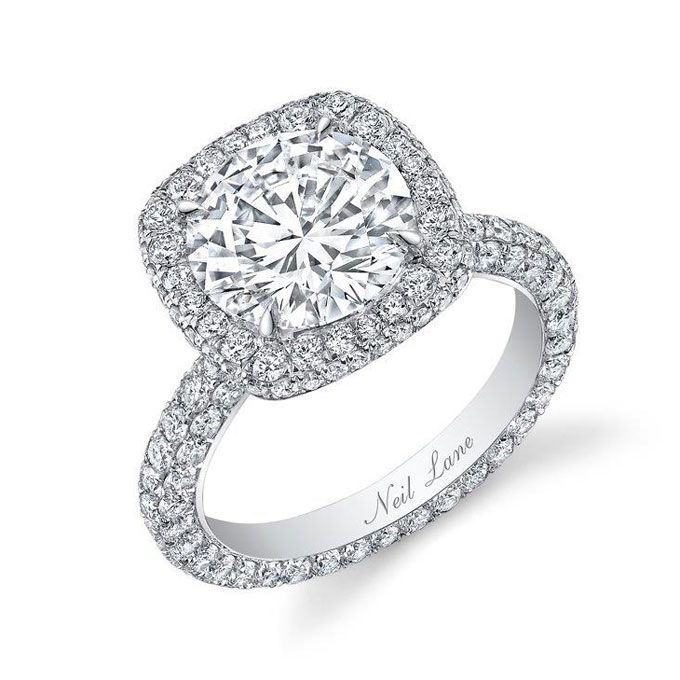 Brides.com: Engagement Rings with Large Center Stones. Style BDGS 00032, 3.5