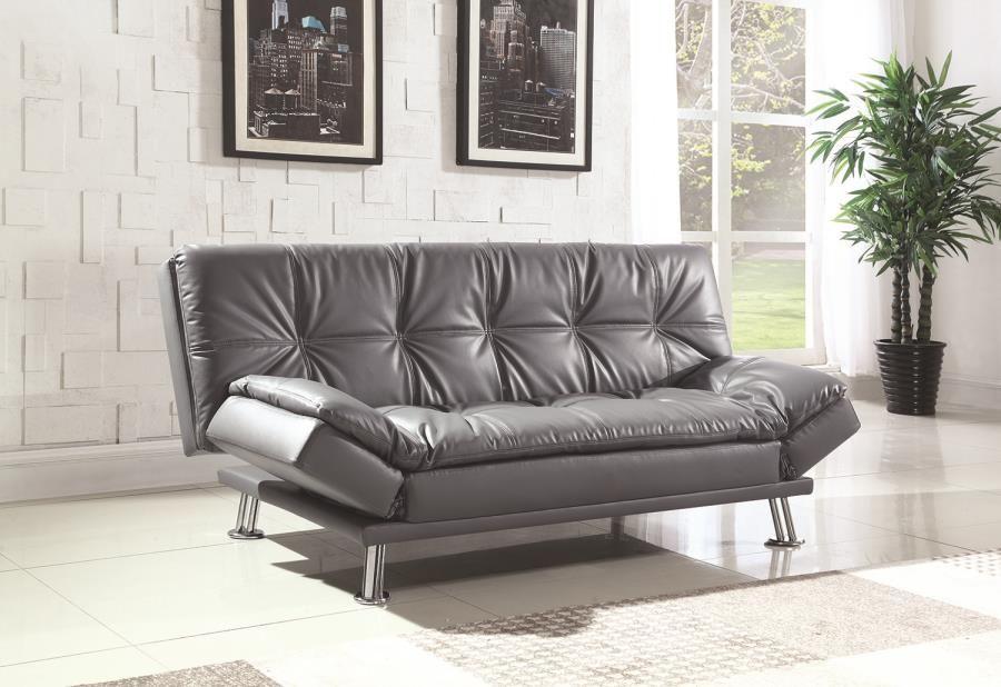 Dilleston Contemporary Sofa Bed Coaster 500096 Futon Sofa