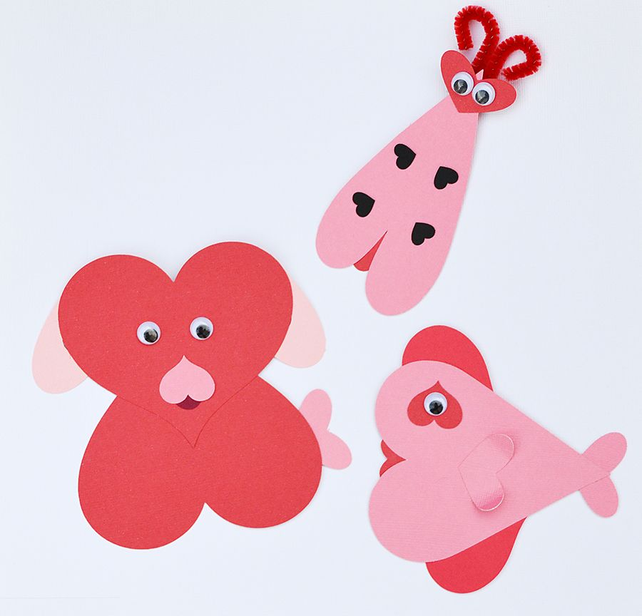 cute heart creatures. great for preschoolers. make hearts with ...