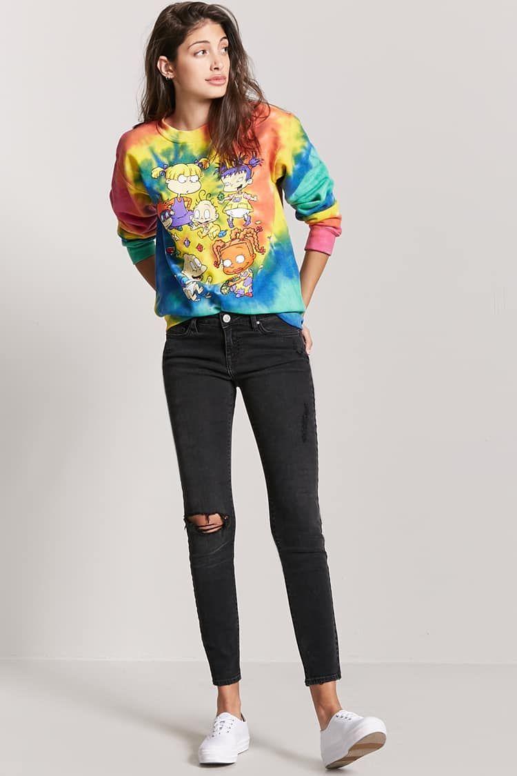 3d71233a5e0 Tie-Dye Rugrats Graphic Sweatshirt