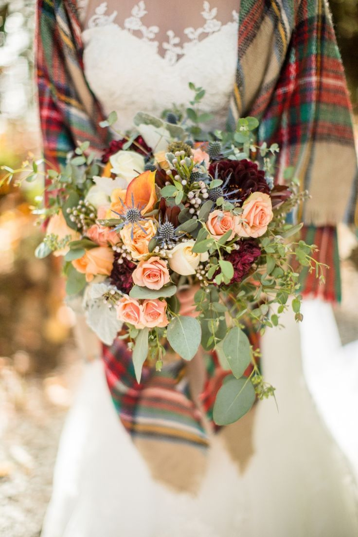 Plaid wedding dress  JoPhoto in   Fall Wedding  Pinterest  Wedding Fall Wedding