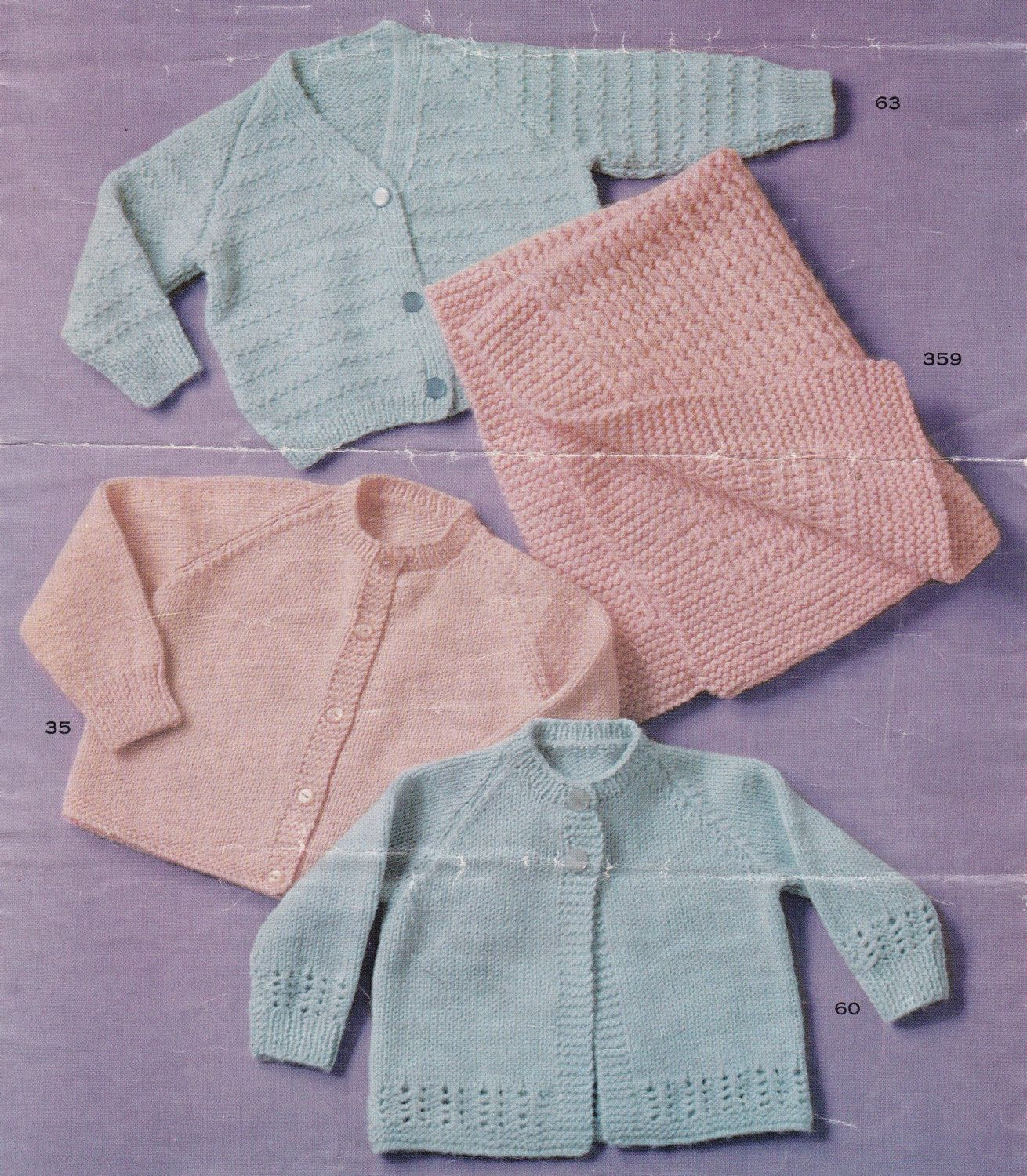 Baby Knitting Pattern Instant Download 5 ply Knitting Pram Cover and ...