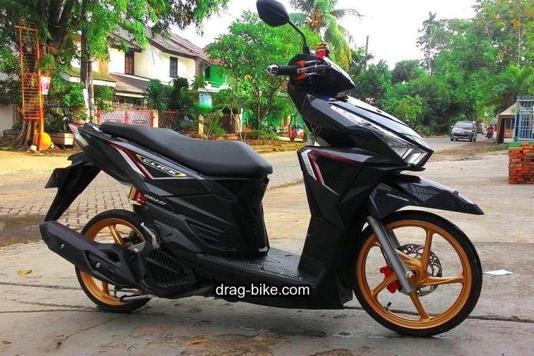 52 Modifikasi Vario 150 Jari Jari Esp Techno 125 Cbs Dan 110 Street Racing Drag Bike Com Motor Honda Hitam
