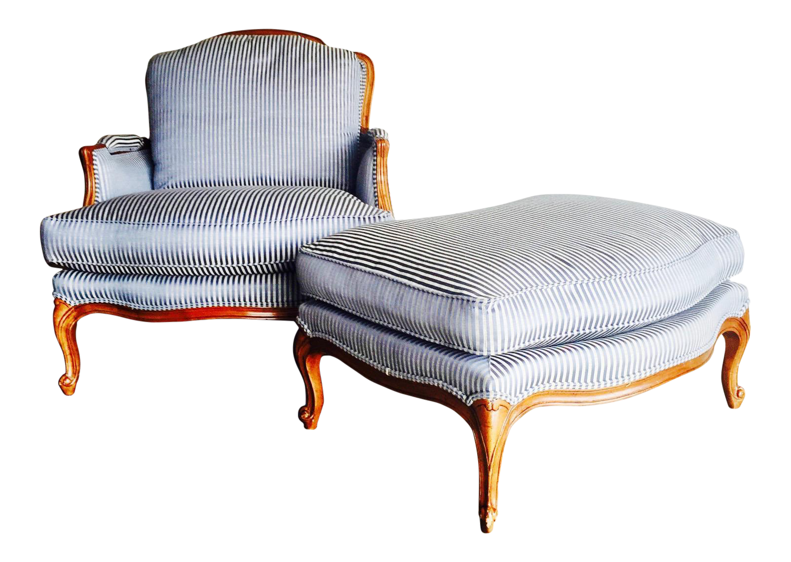 Bergere chair and ottoman - Vintage Heritage Bergere Chair Ottoman