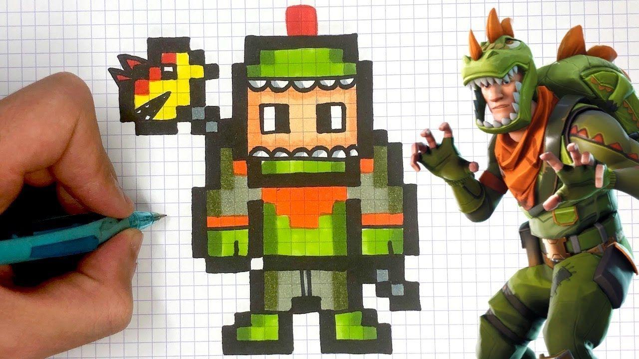 Skin Fortnite Pixel Facile Como Dibujar Rex Pixel Art Skin Fortnite Youtube In 2020 Pixel Art Pixel Art Design Pixel