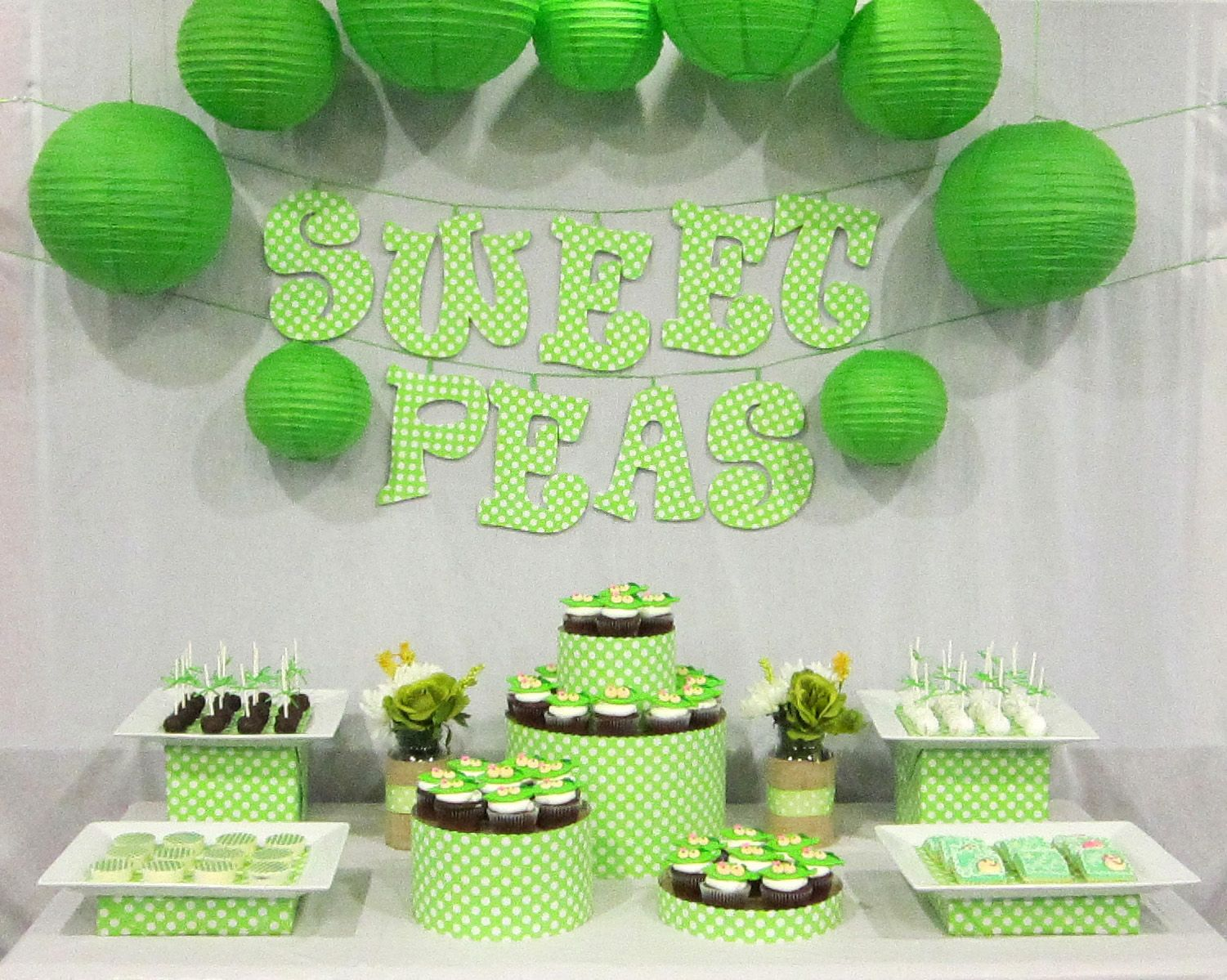 Two Peas In A Pod Twins Baby Shower. But Toned Down A Little From This.