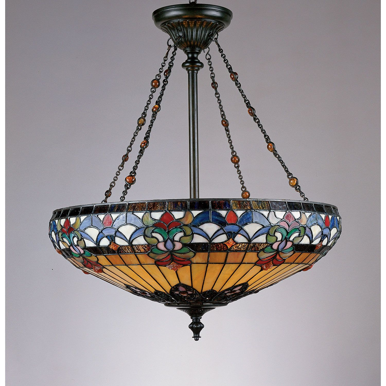 Quoizel Tiffany Pendant Light Tf1781vb With Images Tiffany
