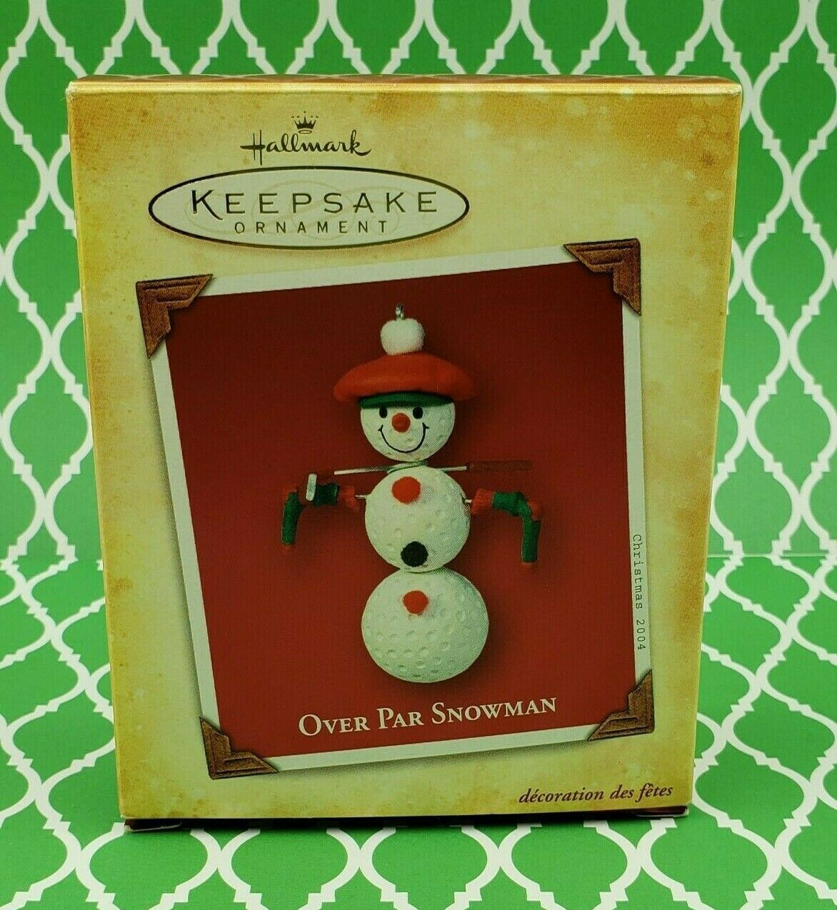 Hallmark Over Par Snowman 2004 Keepsake Ornament in
