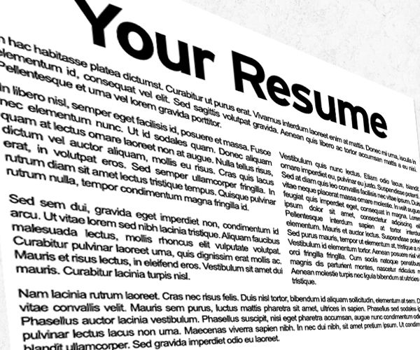 Download 10 Samples of Professional Resume Formats -   www