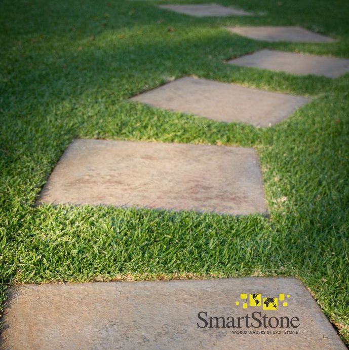 While you have time on your hands, easily create a pathway through your garden. Ask us about our Stepping Stone range.  #SmartStoneSA #Paving #PavingIdeas #LandscapingProducts #PavingSlabs #SteppingStones #GardenWalkway #GardenPath #Hardscaping #Landscaping #GardenLandscaping #DIYGardenDesign