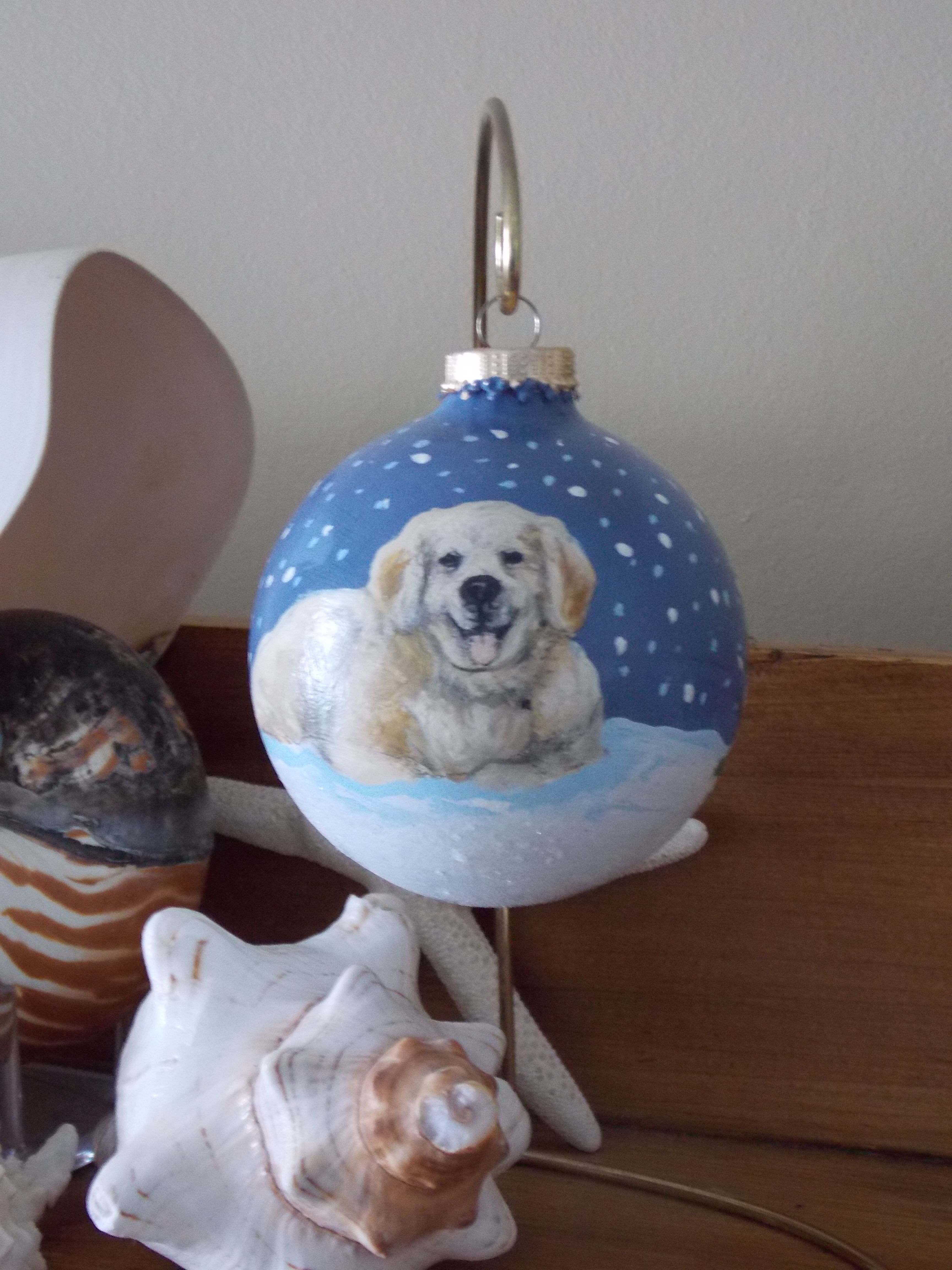 Chirstmas Ornament of my dog...from great pal Lindsay