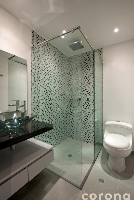 Mosaicos para baos best baos modernos decorados con color - Banos decorados con mosaicos ...