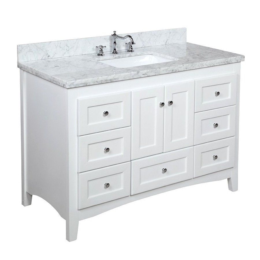 Abbey 48 Inch Vanity Carrara Marble With Images 48 Inch