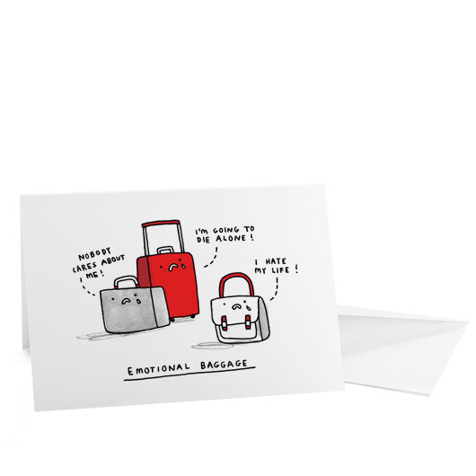Funny card emotional baggage by gemma correll ohh deer quirky funny card emotional baggage by gemma correll ohh deer quirky illustrated gifts m4hsunfo