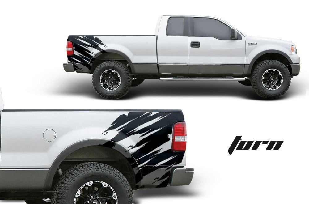 Ford F Truck FX Fender Bed Graphic Custom Vinyl Decal Black - Custom vinyl decals for black cars