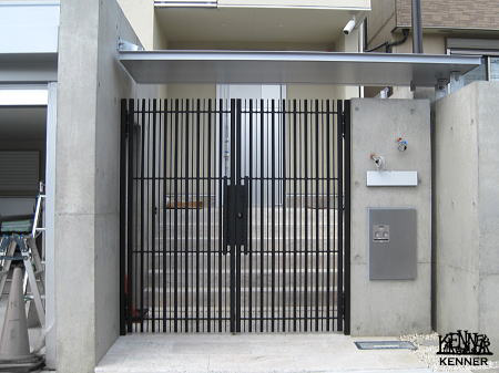 Construction example: Gate No.1235[For custom-made wrought iron, go to Kenner Co., Ltd.]