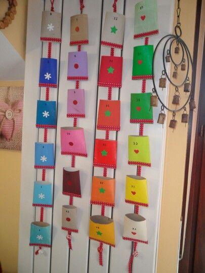 Calendario Avvento Con Rotoli Carta Igienica.Carignano Creazioni Home Made Calendario Avvento
