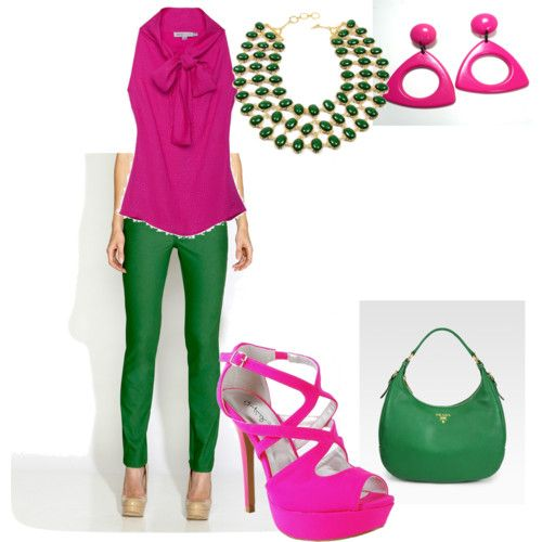 mixing pink and green...alpha kappa alpha style