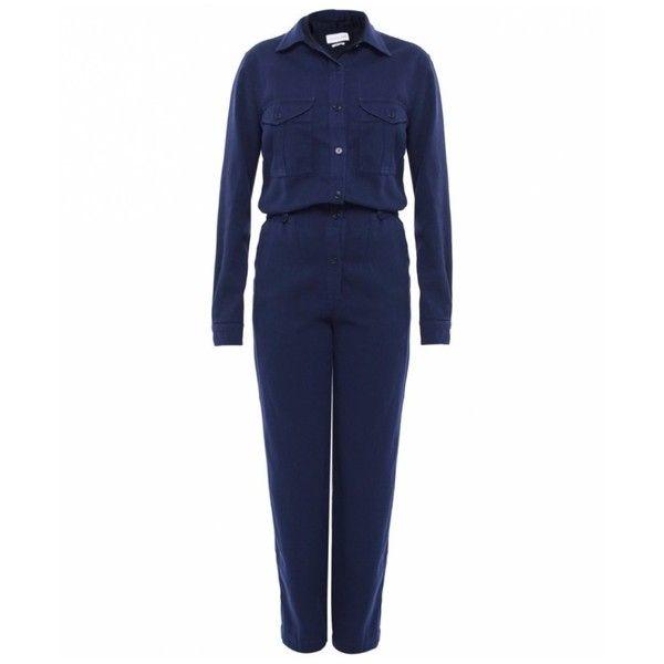 Isabel Marant Warren Jumpsuit ($530) ❤ liked on Polyvore featuring jumpsuits, jumpsuit, navy, isabel marant, special occasion jumpsuits, evening jumpsuits, cocktail jumpsuit and blue jumpsuit