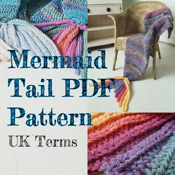 Crochet Mermaid Tail Blanket Pattern ADULT SIZE UK Terms with ...