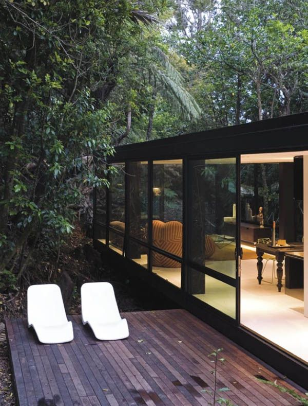 Modular Glass Forest House In New Zealand Forest House