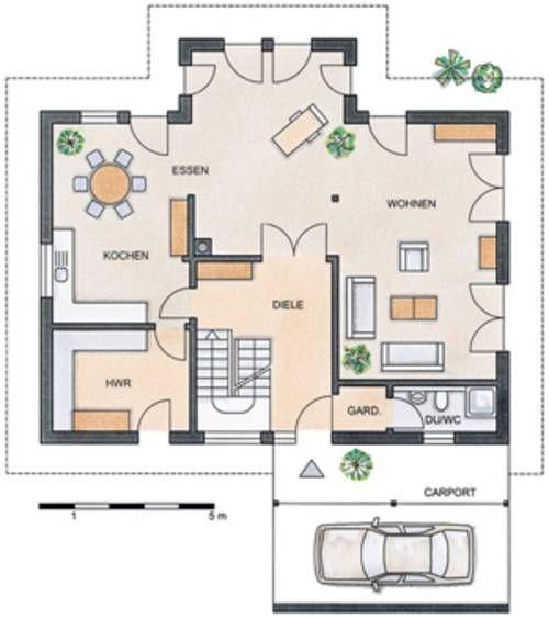 Grundriss Erdgeschoss: STOMMEL HAUS – WILDROSE Wohnzimmer vorne ...