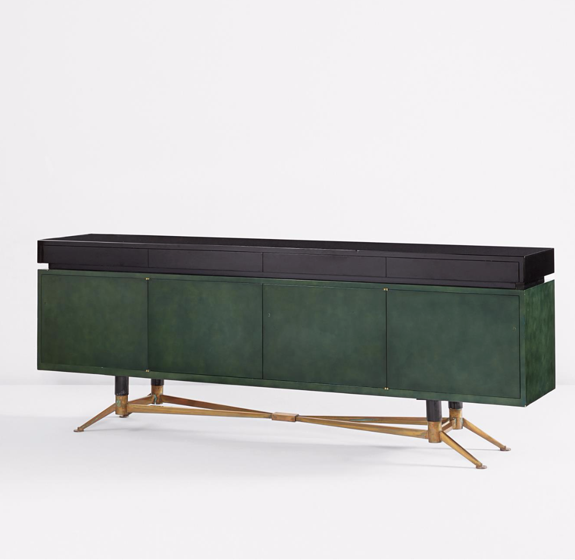 lacquered wood, bronze and steel sideboard | wohndesign, Wohnzimmer