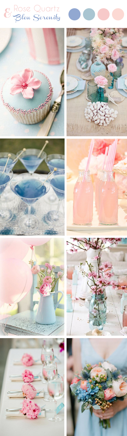 Couleurs Pantone 2016 D Coration De Mariage Rose Et Bleu Pantone