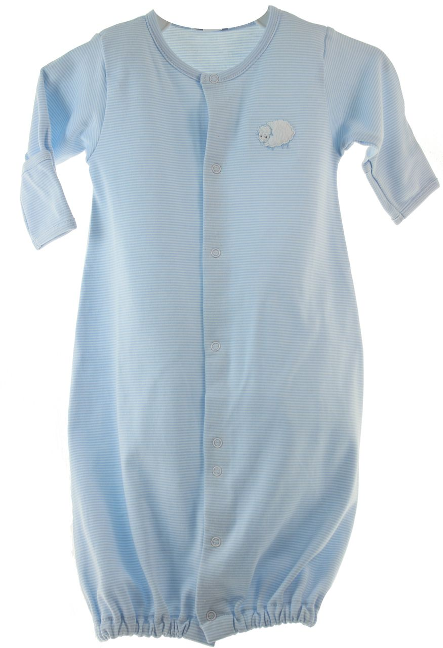 Hiccups Childrens Boutique - Kissy Kissy Boys Blue Striped Lamb ...