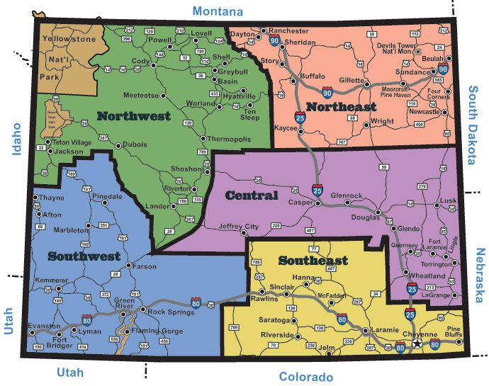state map of wyoming cities - Google Search | MAPS | Wyoming cities ...